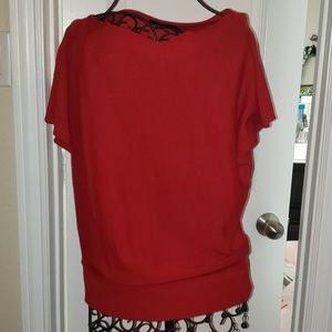 Red short sleeve sweater